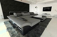 Sofa Dreams Designer Couch Monza in Stoff als L
