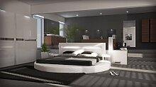 Sofa Dreams Designer Rundbett Night Weiss 180 x