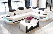Sofa Dreams Ecksofa Como, L Form Ledersofa mit