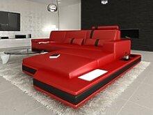 Sofa Dreams Ecksofa Messana, L Form Ledersofa mit