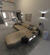 Sofa Dreams Ecksofa Prato, L Form Ledersofa mit