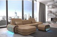 Sofa Dreams Ecksofa Roma, L Form Ledersofa mit
