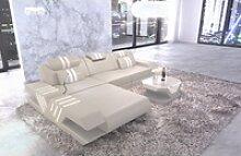 Sofa Dreams Ecksofa Venedig, L Form Ledersofa mit