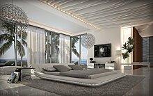 Sofa Dreams Komplettbett Custo Weiss mit Matratze