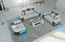 Sofa Dreams Leder Couchgarnitur 321 Bellagio