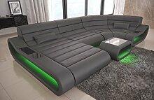 Sofa Dreams Leder Wohnlandschaft Concept U Form