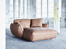 Sofa Dreams Longchair Sessel Cosy mit Echtleder