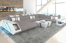 Sofa Dreams Sofa Apollonia P XXL, U Form grau