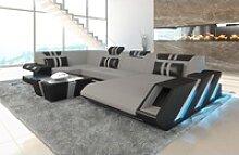 Sofa Dreams Sofa Apollonia S, U Form grau