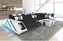 Sofa Dreams Sofa Apollonia S, U Form schwarz