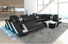 Sofa Dreams Sofa Apollonia, U Form schwarz