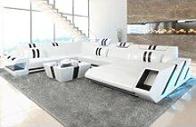 Sofa Dreams Sofa Apollonia, U Form XXL weiß