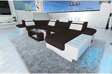 Sofa Dreams Sofa Bellagio S, U Form braun