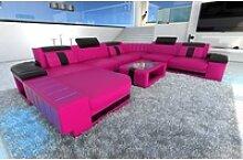 Sofa Dreams Sofa Bellagio, U Form XXL rosa