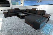 Sofa Dreams Sofa Bellagio, U Form XXL schwarz