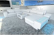 Sofa Dreams Sofa Bellagio, U Form XXL weiß