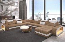 Sofa Dreams Sofa Berlin, U Form XXL gelb
