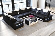 Sofa Dreams Sofa Como, U Form schwarz