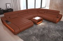 Sofa Dreams Sofa Concept, U Form XXL braun
