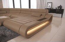 Sofa Dreams Sofa Concept, U Form XXL goldfarben