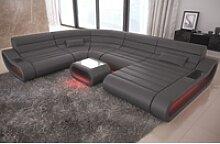 Sofa Dreams Sofa Concept, U Form XXL grau
