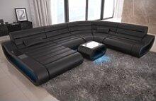 Sofa Dreams Sofa Concept, U Form XXL schwarz