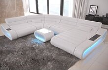 Sofa Dreams Sofa Concept, U Form XXL weiß