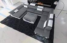 Sofa Dreams Sofa Enzo, XXL U Form grau