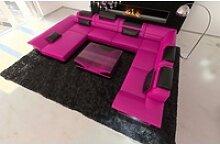 Sofa Dreams Sofa Enzo, XXL U Form rosa