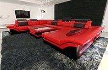 Sofa Dreams Sofa Enzo, XXL U Form rot