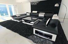 Sofa Dreams Sofa Enzo, XXL U Form schwarz