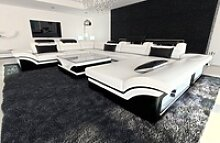 Sofa Dreams Sofa Enzo, XXL U Form weiß