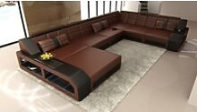 Sofa Dreams Sofa Matera, U Form XXL braun