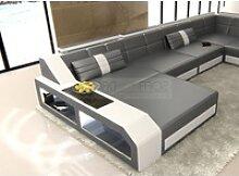 Sofa Dreams Sofa Matera, U Form XXL grau