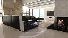 Sofa Dreams Sofa Matera, U Form XXL schwarz