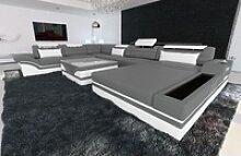 Sofa Dreams Sofa Mezzo, U Form XXL grau