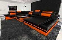 Sofa Dreams Sofa Mezzo, U Form XXL schwarz