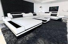 Sofa Dreams Sofa Mezzo, U Form XXL weiß