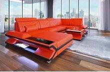 Sofa Dreams Sofa Napoli, U Form orange