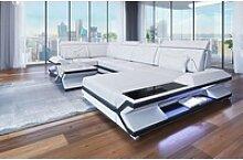 Sofa Dreams Sofa Napoli, U Form weiß