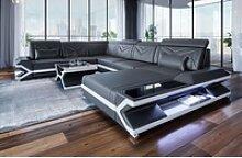 Sofa Dreams Sofa Napoli, U Form XXL grau