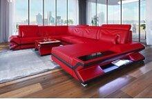 Sofa Dreams Sofa Napoli, U Form XXL rot
