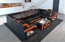 Sofa Dreams Sofa Padua, U Form schwarz