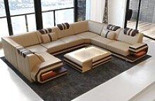 Sofa Dreams Sofa Ragusa, U Form goldfarben