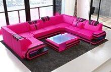 Sofa Dreams Sofa Ragusa, U Form rosa