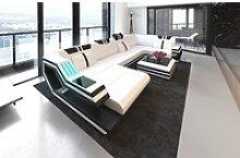 Sofa Dreams Sofa Ravenna, U Form weiß