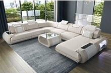 Sofa Dreams Sofa Rimini, U Form XXL gelb