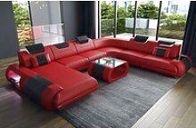 Sofa Dreams Sofa Rimini, U Form XXL rot
