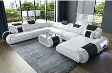 Sofa Dreams Sofa Rimini, U Form XXL weiß