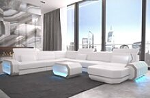 Sofa Dreams Sofa Roma, U Form XXL weiß
